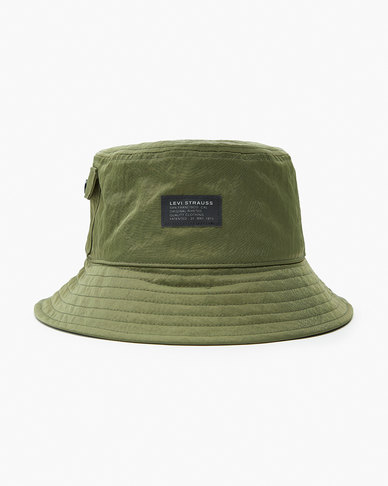 Levi's® Men's Pocketed Bucket Hat - No Horse Pull Logo Patch