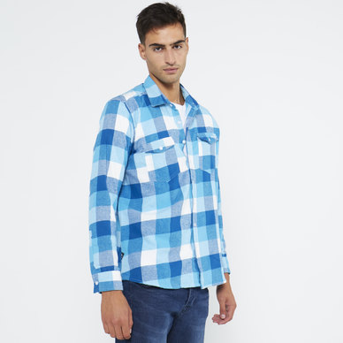 YARN DYED CHECK FLANNEL SHIRT