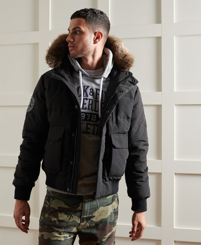 Everest Quilted Bomber Jacket