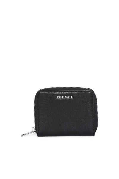 Zip-around wallet with colour detail