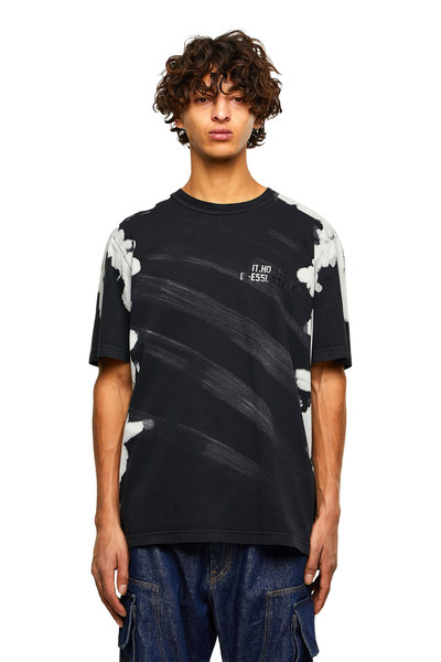 Treated pigment-dyed T-shirt