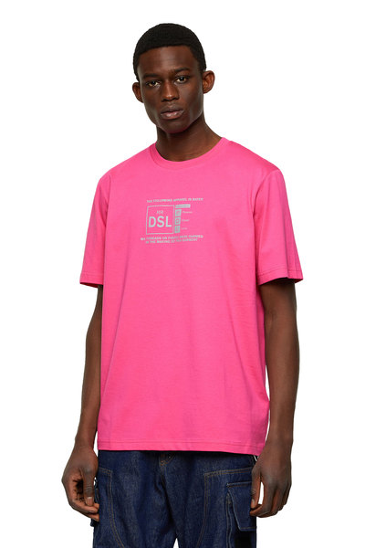 T-shirt with reflective logo print