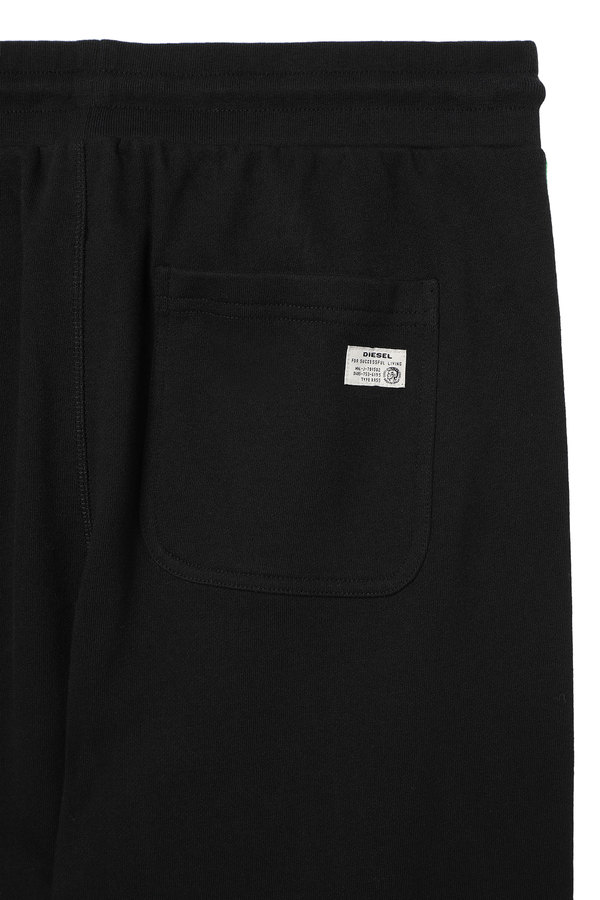 Sweatpants with knitted logo bands