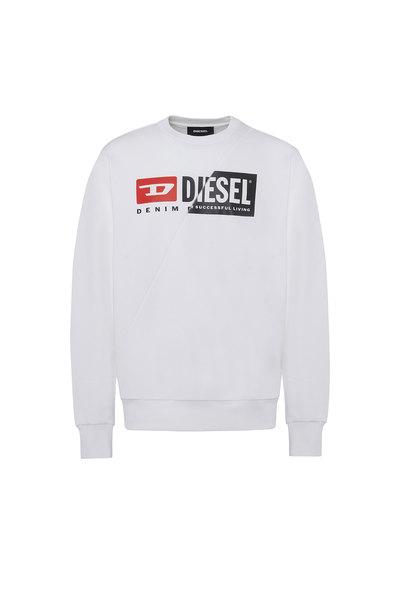 Sweatshirt with double logo print