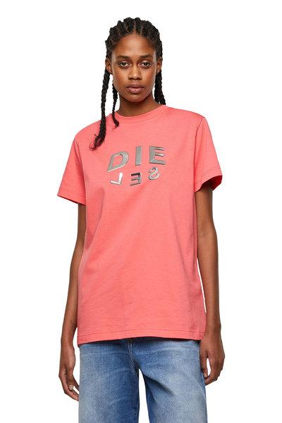 T-shirt with metallic DIE-SEL print