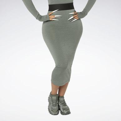 CARDI B Rib Skirt