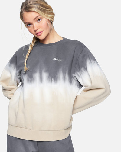 Double Dip Dye Girlfriend Crew Fleece