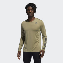 TECHFIT 3-STRIPES FITTED LONG SLEEVE TOP