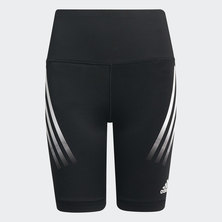 BELIEVE THIS AEROREADY 3-STRIPES HIGH-RISE STRETCH SHORT TIGHTS
