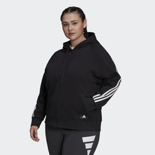SPORTSWEAR FUTURE ICONS 3-STRIPES HOODED TRACK TOP (PLUS SIZE)