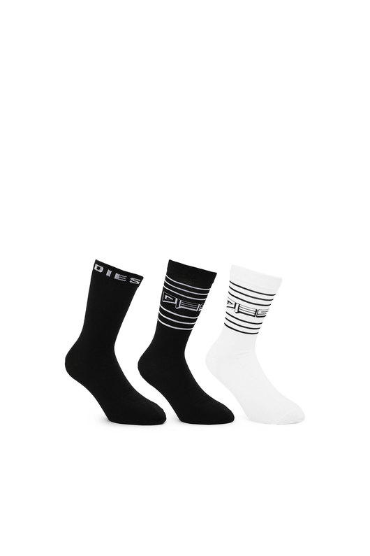 Three-pack of socks with striped motif