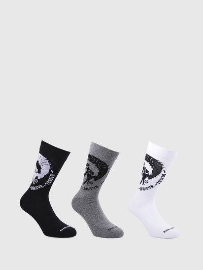Knee-high 3 pack socks with mohawk
