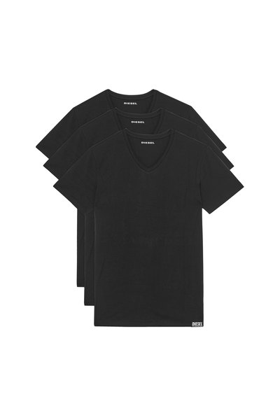Three-pack of stretch cotton V-neck T-shirts
