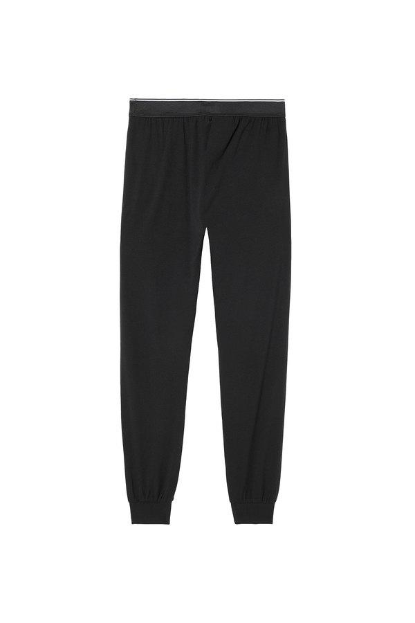 Pyjama pants with front logo waist