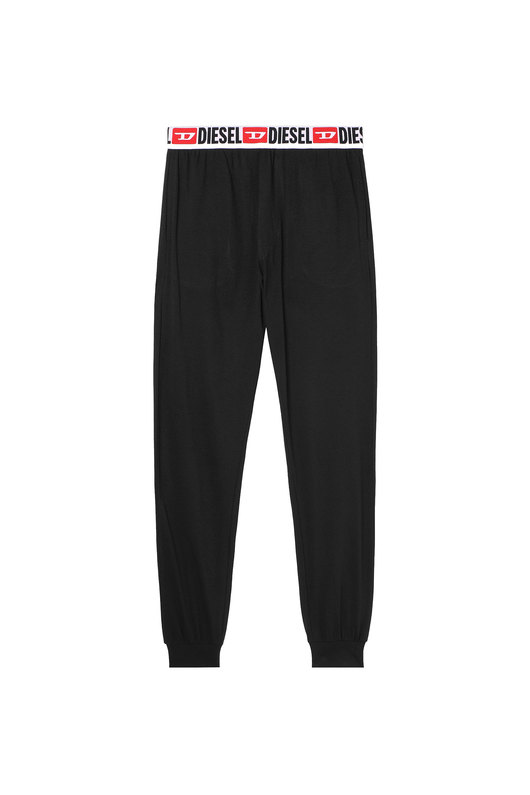 Pyjama pants with all-over logo waist