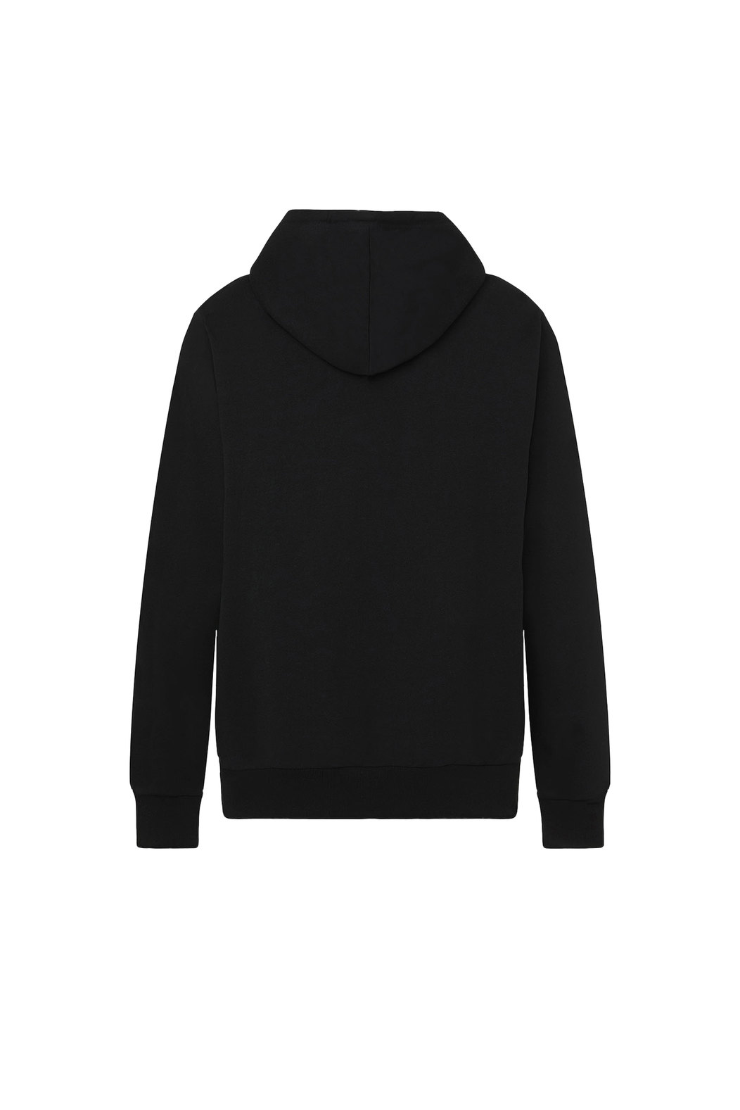 Logo hoodie in loopback cotton