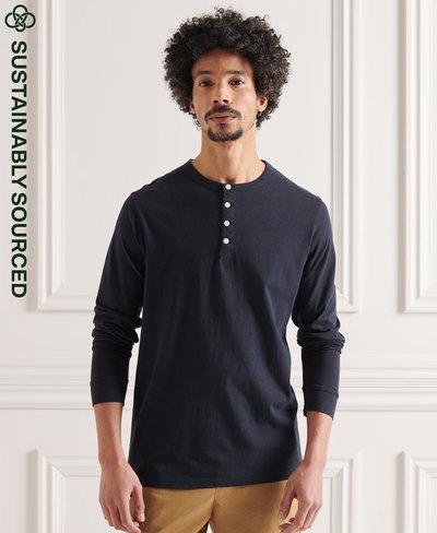 Organic Cotton Lightweight Essential Henley Top