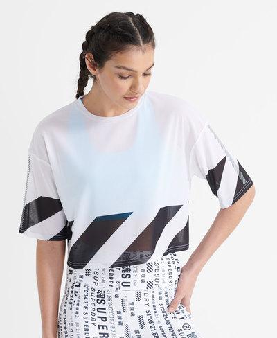 Running Mesh Crop T-Shirt