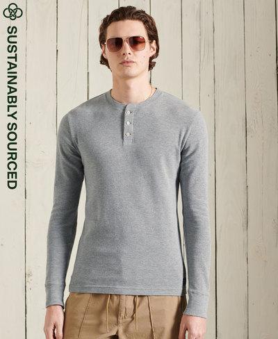 Organic Cotton Long Sleeve Waffle Henley Top