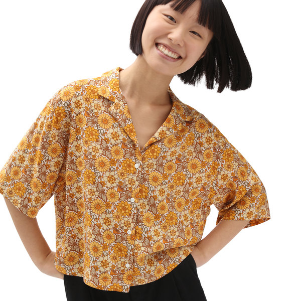 Trippy Floral Woven Top