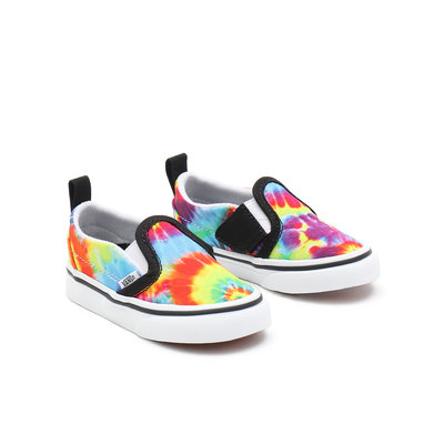 TODDLER SPIRAL TIE DYE SLIP-ON VELCRO SHOES (1-4 YEARS)
