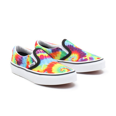 KIDS SPIRAL TIE DYE CLASSIC SLIP-ON SHOES (4-8 YEARS)