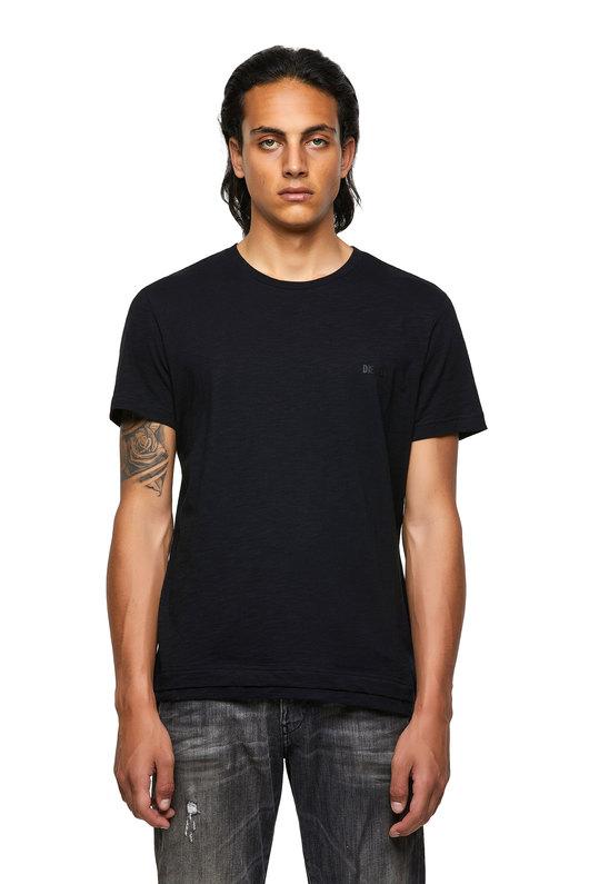 Double-hem T-shirt in slub cotton
