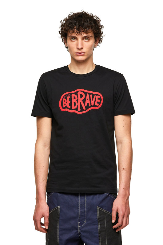 Green Label T-shirt with Be Brave print