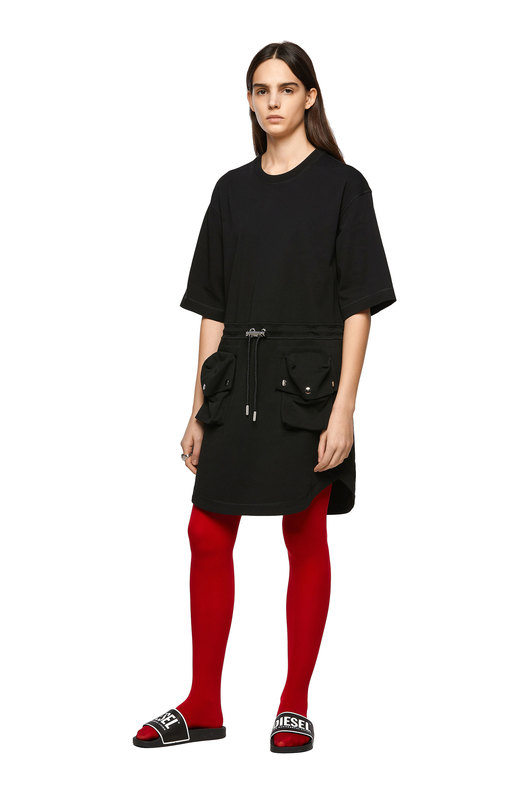 Green Label jersey dress with pockets