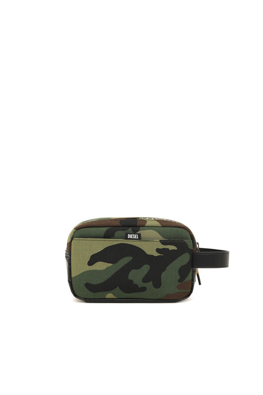 Wash bag in camouflage fabric