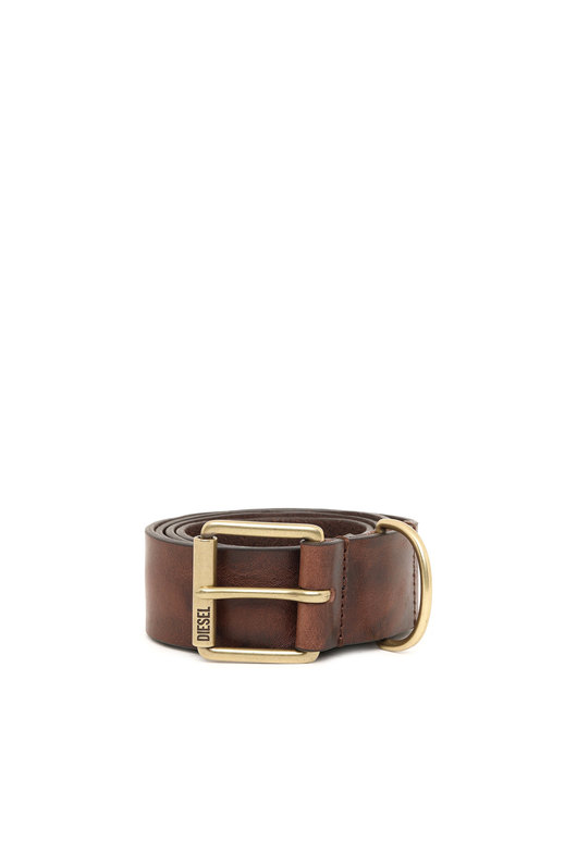 Belt in treated leather