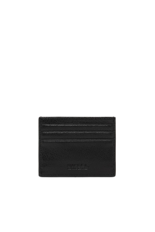 Card case in grained leather