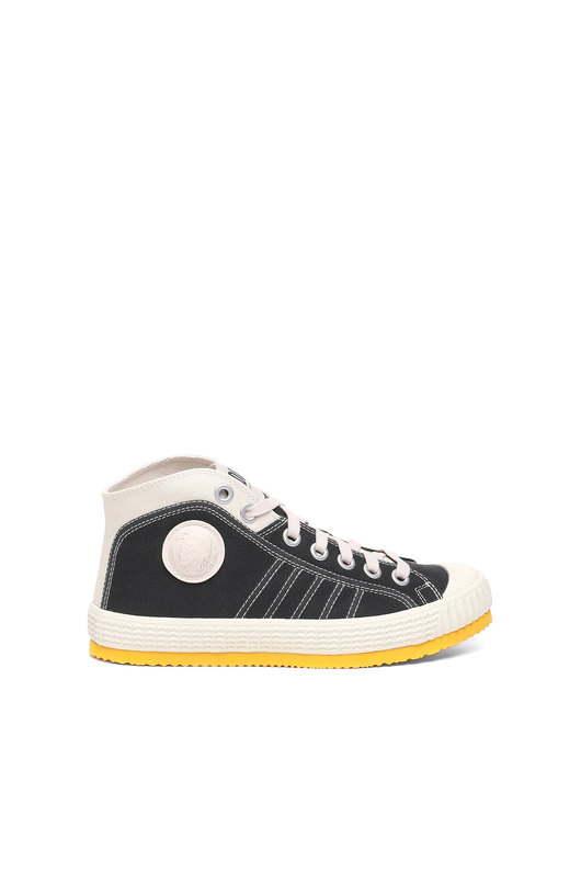 High-top sneakers in canvas
