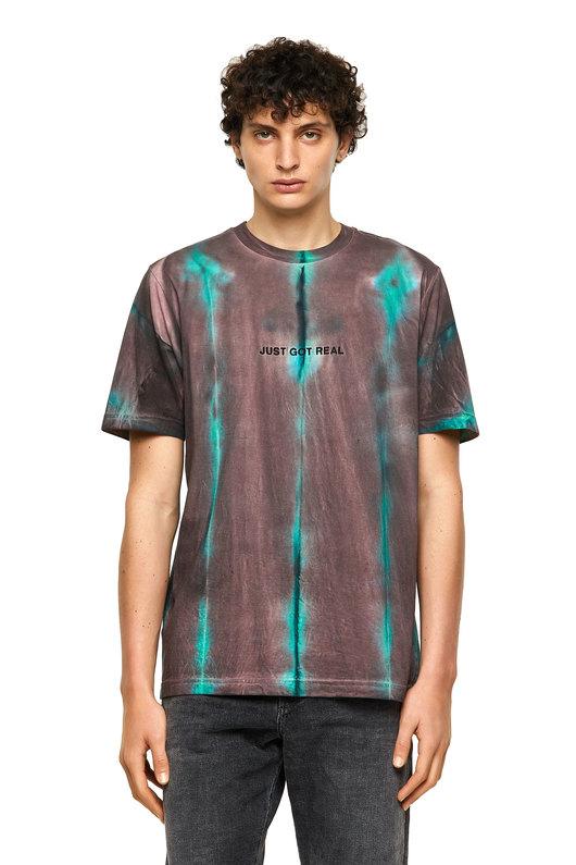 Tie-dye T-shirt with batik effect