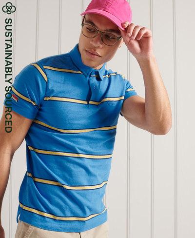 Organic Cotton Academy Stripe Polo Shirt