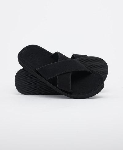 Slim Cross Strap Slides