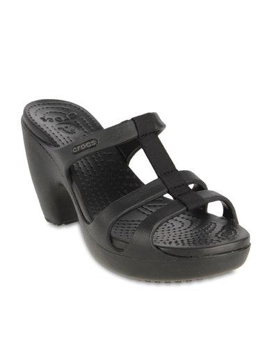 0cb187fcb2d Crocs Cyprus Sandals Black