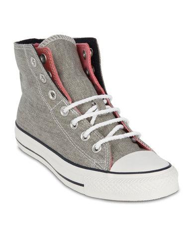 e05fb685cca9e0 Converse Chuck Taylor All Star Foldover High-Top Sneakers Pink Grey ...