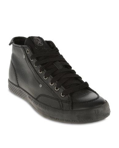 fca29ee3b459 Diesel D-78 Mid-Top Sneakers Black