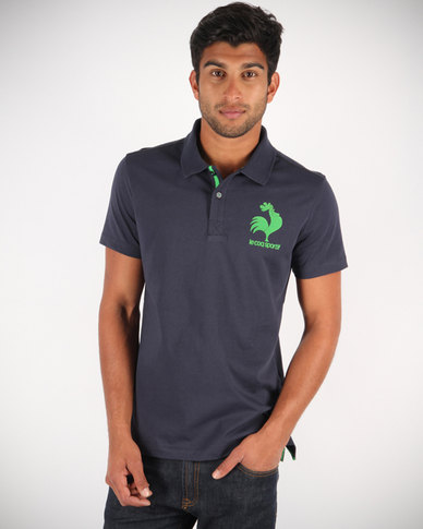 Le Coq Sportif Old Rooster Polo Shirt Navy  8cea530d5
