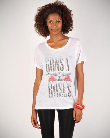 Mint Guns N Roses T Shirt White Zando