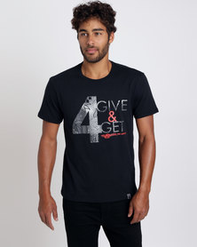 466/64 Mens 4Give & 4Get T-Shirt Black