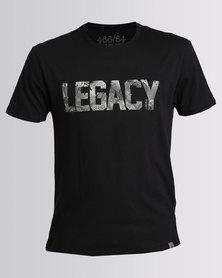 466/64 Mens Legacy Shirt Print T-Shirt Black