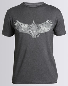 466/64 Spread Your Wings T-Shirt Charcoal