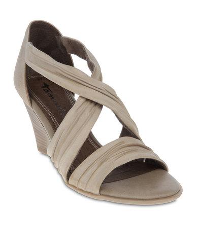 aa31d6da4dc Tamaris Wedge Sandals Cream