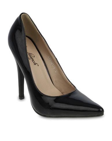 Launch Pointed Stilettos Black