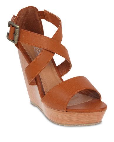 rage wooden wedge sandals zando