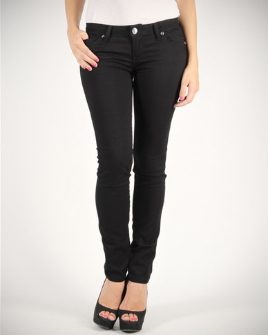 Linx Stretch Styled Jeans Black