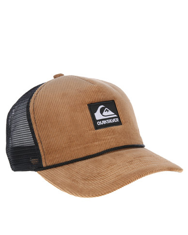Quiksilver Jetty Island Trucker Cap Brown  e325f06574b