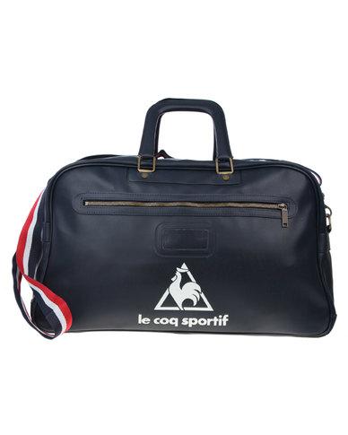 e58219865c89 Le Coq Sportif Vintage Sports Bag Navy Blue